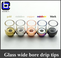 Wholesale Glass drip tip tips Pyrex Wide Bore Atomizer mouthpieces for ego e cigs subtank mini subox nano nautilus atlantis TFV4 herakles cyclone
