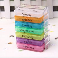 Cheap Fashion Hot Medicine Weekly Storage Pill 7 Day Tablet Sorter Box Container Case Organizer