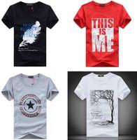 apparel clothing designs - Men T Shirts Print fashion men women short sleeves cotton cartoon T shirt tees clothing apparel colorful many designs gifts