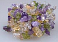 Precio de Chip stone bracelet-Flor de la joyería de la manera de la joyería Nueva llegada de diseño clásico colorido pulsera de piedra natural de chips [U-05] Pulseras encanto