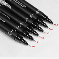 Wholesale New Arrivals Drawing Art Painting Fine Line Pens Black Waterproof Plastic Width CX216