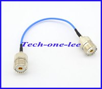 Wholesale 10 pieces Blue RG316 UHF Female to UHF Jack Connector Adapter Extension cord cm Cable