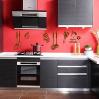 american cooking - Creative Removable Cooking Utensil Spatula Wall Stickers Art Decal Kitchen ZD