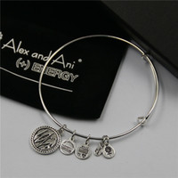 Wholesale Cheap Fashion Birthday Stone crystal Charms Ani and Alex Bracelets for Women with box Drawstring bag