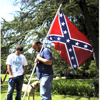 Wholesale Confederate Battle Flags Two Sides Printed Flag Confederate Rebel Civil War Flag National Polyester Flags CM
