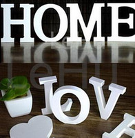 wood letters - Home Decor Decoration thick Wood Wooden White Letters Alphabet Wedding Birthday