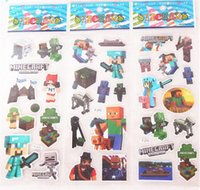 Wholesale 2015 new arrive Minecraft Sticker D Cartoon party Decorative book Stickers paper game christmas Children gift toys D121