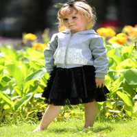 Wholesale Pettigirl Retail Hot Sale Girls Casual Clothing Sets Fashion Sweatshirt And Mini Skirt Children Clothing CS80813 F