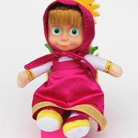 novelty gifts and toys - Masha and Bear Russian European Girl Boy Baby Children Plush Dolls Custom Kids Christmas Gifts Adorable Party Favors MYF083101