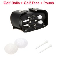 Wholesale 5 in Mini Portable Golf Accessories Golf Balls Golf Tees Tee Ball Holder Leather Bag Pouch with Clip Set