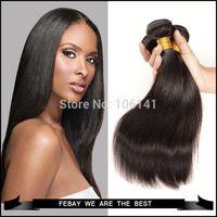 Wholesale 1 X New unprocessed brazilian virgin hair straight brazillian straight human hair extension bundle human hair weave