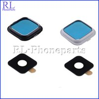 Wholesale DHL White Black New Camera glass Lens and Bezel with sticker and frame Repair for Samsung Galaxy NOTE N910F N910A N910G