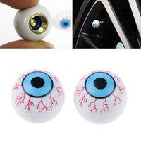 Wholesale New Creative Eye Ball Pattern Auto Wheel Valve Air Stem Cap Cover Tire Screw Dust Plug for Car Truck Bike