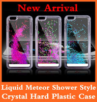 Wholesale Liquid Metoer Shower Dynamic Floating Glitter Star Hard Clear Plastic Case Cover for Iphone Plus S S Samsung Note S5 S4