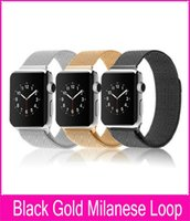 band guarantee - New Arrival Black Silver Gold Milanese Loop For Apple Watch Band mm mm Quality Guarantee Original Copy Watchbands