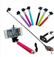 Wholesale 2 in Camera Monopods Camera Tripod Extendable Handheld Camera selfie Monopod With Cellphone Holder For iPhone Samsung HTC Digital Camera