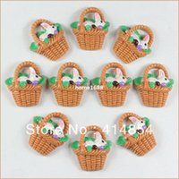 easter baskets - Basket Rabbit Bunny Bunnies Easter Eggs Resin Cabochon Flatbacks Flat Back Scrapbooking Hair Bow Center Crafts
