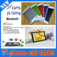 3 couleurs Ultra Slim MTK6572 Tablet PC 7 pouces Android 4.2 Dual Core 3G WCDMA appel téléphonique avec double Sim Card Slot GPS Bluetooth PB7-C5