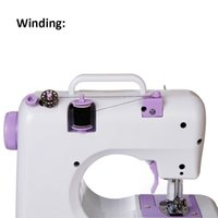 Wholesale Household Multifunction Sewing Machine with Replaceable Presser Feet Stitches Reverse DIY Clothes Electric Desktop Type