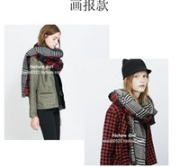 air conditioned hat - The new season long double side scarf air condition shawls large checked lady scarf shawl thickening to keep warm