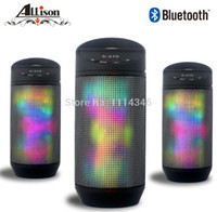Wholesale 2015 New Pulse Portable Wireless Bluetooth Speaker Support FM Colorful LED lights Subwoofer TF Card Outdoor Surround Speaker