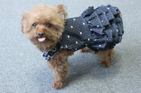 beautiful doggie - Cool heart printing doggie jean skirt beautiful small pets dress apparel S M L