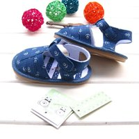 Wholesale NEW ARRIVAL Summer baby boy s rubber soled sandals high quality flat heel outdoor bebe Denim baby shoes