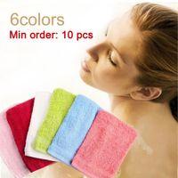 Wholesale 10pcs Colors Bath Towel Bath Glove Cotton Spa Sponge Shower Exfoliating Scrubbing Luva Intrafamilial