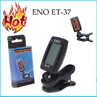 Wholesale New Arrival ENO ET LCD Mini Clip on Electronic Guitar Chromatic Bass Violin Ukulel Tuner Wind Instrument Universal