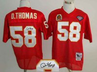 throwback football jersey - Cheap Mitchell Ness Chiefs Derrick THOMAS Red Players Signature Th Patch Throwback Jerseys Sewn on Size