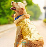 free shipping dog clothes - New Big Dog Clothes Golden Retriever Dog Vest Summer Cool Breathable Pet Clothes Large Size Dog Vests