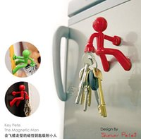 Wholesale Wall Climbing the Magnetic man Key Holder key pete Key chain Magnetic Climbing Man Key Holder