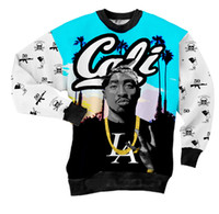 Wholesale New Spring Winter Hot Fashion Tupac pac Cali Sweatshirts Men Women Couples Sweaters Unisex Full Tee D Tops Casual Shirt T shirt man Sport