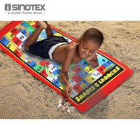 adult beach games - Adults Unisex Cotton Beach Towel Reactive Printed Towels Drying Washcloth Number Maze Leisure Game x150cm