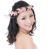 Cheap New 2015 wedding bouquet Hair bands Women Wedding bridal Flower Headband Flower Garland Headdress Flower girl Bride for hair accessories