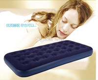Wholesale new camping mat series flocked pvc single or double person beam air bed air mattress inflatable bed size to choose