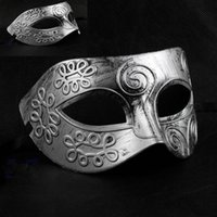 ancient greek dress - Men s retro Greco Roman Gladiator Glitter fancy dress Ancient Greek and Roman fighter Masquerade mask new Mens Halloween Costume Party Mask