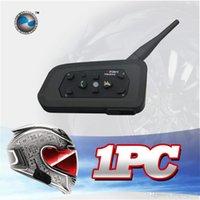 Wholesale Freeshipping M Bluetooth helmet Intercom Motorcycle wireless BT interphone upto Riders headset intercomunicadores de motos A5