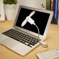 small fans - 20 New Computer POWER BANK USB Flexible Arm Mini Fan Mute Soft Small Fan