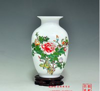 achat en gros de ceramic and porcelain vase-Jingdezhen porcelaine en céramique vase chinoise main peinture porcelaine vase phoenix fleurs