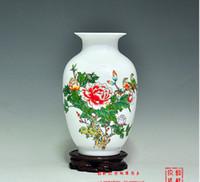 achat en gros de ceramic and porcelain vase-Jingdezhen porcelaine vase en céramique fleurs Vase en porcelaine de peinture à la main chinoise phoenix