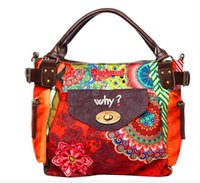 Wholesale 2015 official website synchronization new European and American big retro Spain desigual ethnic handbag shoulder diagonal