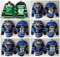 Wholesale St Louis Blues Pullover Sweatshirt David Backes Ice Hockey Hoody Vladimir Tarasenko Old Time Hoodie Brett Hull Hooded