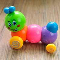 Wholesale Children Baby Developmental Intelligence Toy Lovely Colorful Caterpillar Wind up hot
