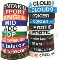 1000PCS 20 designs LOL LOL bracelet GAMES Souvenirs Silicone Wristband League of legends Bracelets avec ADC, JUNGLE, MID, SUPPORT, TOP D599