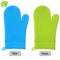 oven mitt gloves - 2pcs Cooking Tools Hanging Silicone Oven Mitts Microwave Oven Kitchen Silicone Glove dandys