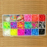 Cheap 2014 Hot Crazy Loom Kits Rubber Bands Bracelet DIY Refills Children Toy Gift Mixed Box Loom Bands with Clip & Hook & Pendant