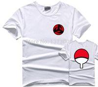 akatsuki shirt - Sasuke T Shirt Men Tee Anime Naruto Uchiha Family Logo Sharingan Eye Symbol Cosplay T Shirts Akatsuki Itachi Tshirt