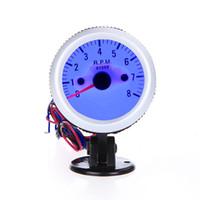 Wholesale Auto Vehicle Tachometer Tach Gauge with Holder Cup for Auto Car quot mm RPM Blue LED Light