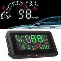 Wholesale Car Auto ActiSafety OBD W01 Inch HUD Head Up Display Interface Vehicle Speed Warn System KMH LCD